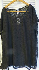 NWT CATHERINE'S 2 PC SET - BLACK LACE OVERLAY WITH SHELL 3 X 26/28  $68