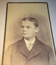 Antique Handsome Victorian American Fashion Young Man! Elmira New York CDV Photo