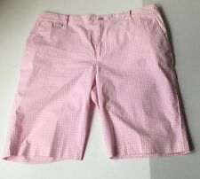 Ladies Polo by Ralph Lauren  Pink Stripped Cotton Shorts 16