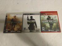 Lot Of 3 Call Of Duty Modern Warfare PS3 Games Modern Warefare 1 2 3