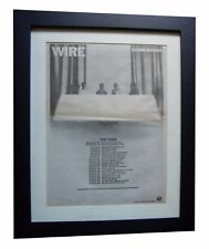 WIRE+Chairs Missing+POSTER+AD+QUALITY FRAMED+RARE ORIGINAL 1978+FAST+GLOBAL SHIP