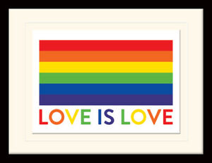 Love is Love Framed & Mounted Print