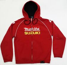 One Industries Mens Sweater Hoodie Medium Full Zip Suzuki Makita Racing Red