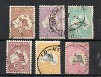 Australia 1929-30 Kangaroo values to 10s FU CDS