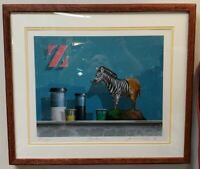 "James Carter - ""Zebra"" Limited Edition Print #232 of 275 (1986)"