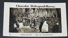 PHOTO CHOCOLAT DELESPAUL-HAVEZ 1950 TERRE SAINTE JERUSALEM MUR DES LAMENTATIONS