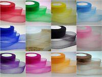 """Hot selling 50Yards 3/8 """"(10mm) Sheer Organza Ribbon 12 kinds Colour YG"""