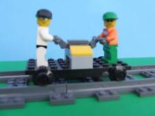 New Train Hand Car + Minfigs fits IR RC 9 Volt Tracks Built w/ New Lego Bricks
