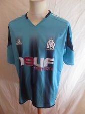 Maillot de football vintage OM Marseille N° 14 LUYINDULA 2004 Adidas Bleu Taille