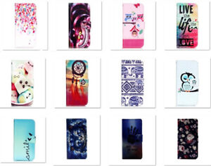 Fashion Flip Wallet Card Holder PU Leather Stand Owl Case  For iPhone Samsung