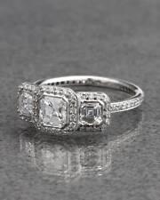 2 CT Unique Three Stone Round Diamond D/VVS1 Engagement Bridal Ring For Women's