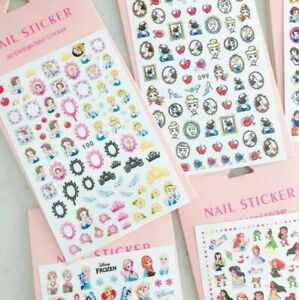 Disney Princess NAIL STICKERS self adhesive manicure party Children's Girls kids