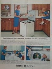 1965 GE General Electric Mobile Made Dish Washer Original Print Ad