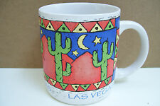 Las Vegas Collectible Coffee Mug Tea Cup Painted Desert Cactus
