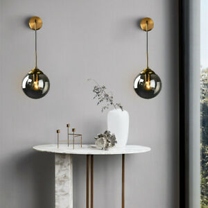 Glass Wall Light Bedroom Wall Sconce Indoor Gold Lighting Home Modern Wall Lamp