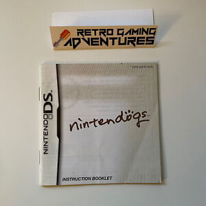 MANUAL ONLY - Nintendogs - Nintendo DS - PAL AUS - MANUAL ONLY