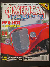 AMERICAN RODDER  Red Hot '33 Ford Roadster  November 2004