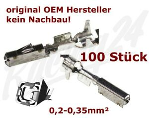 100 Stück MQS Quadlock Buchse Kontakt pin 0,2-0,35mm² Tyco Audi Fiat Ford Honda