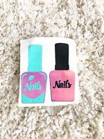 2 Nail Polish Stickers Vanity Wall Car Phone Yeti Mug Decal Free Shipping Sale