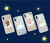 Korea LINE Friends x GCase Brown Cony Sally Choco Glitter iPhone Case