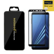 "SOINEED Samsung Galaxy A8+ 2018 6.0"" FULL COVER Tempered Glass Screen Protector"