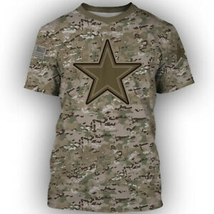 Dallas Cowboys Football Fans T-Shirt Casual Tee Top Short Sleeve Activewear Gift