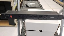 WIREMOLD RACK MOUNT 120V/15A/6 FRONT 90 DEGREE O/L /LIGHTED SWITCH/15' CORD