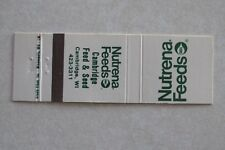 d127 Vintage Matchbook cover Nutrena Feeds Cambridge Feed Seed Wisconsin WI Wis
