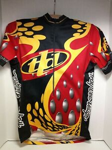 Troy Lee Designs Men Bicycling Racing Jersey Short Sleeve S  Red, Black Yellow