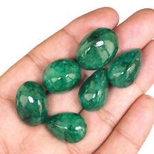 6 Stück Natürlich Quarz Umwerfend Sambianischer Grün 20mm-24mm Lose Cabochon