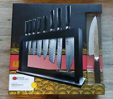 Baccarat Damashiro Emperor Hisa 9 Piece Knife Block RRP $1399 Brand New in box