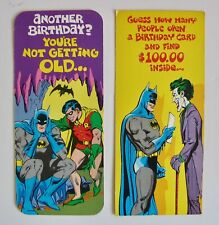 Vintage 1978 Birthday Cards Batman Robin Joker DC Comics Superman Friends Card 2