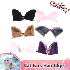 Cosplay Cat Ears Hair Clips Cute Fox Long Fur Anime Costumes Party AU Hotest