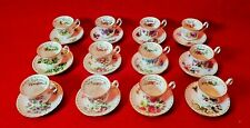 """ROYAL ALBERT Miniature """" Flower Of The Month Series """"  Tasse & Soucoupe Dinette"""
