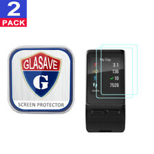(2 Pack) GLASAVE Garmin Vivoactive HR Tempered Glass Screen Protector Clear Film