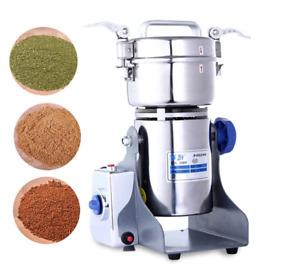 800G High Speed Electric Herb Grain Grinder Cereal Mill Flour Powder 34000r/m