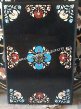 """24""""x30"""" Marble Center Coffee Table Top Multi Inlay Floral Arts Gift Decor H4366"""