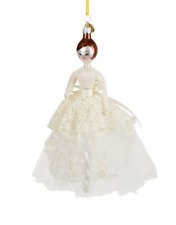 Soffieria DeCarlini Handcrafted Lady Creme Christmas Ornament BNWT