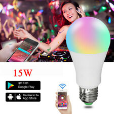 LED WIFI 15W+White RGB Smart Light Bulb WIFI APP Control Lamp Dimmable