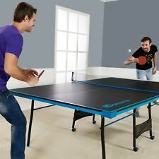 Ping Pong Table Tennis Black Blue Official Size Sports Indoor Game Fold Up Table