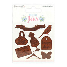 Dovecraft Couture du Jour Leather Decals for cards and crafts
