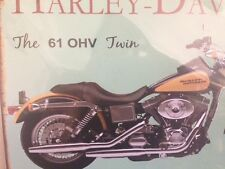 Vintage Metal Wall Harley Davidson 61 OHV Classic Motorcycle wall sign 30cm