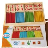 Kids Wooden Math Counting Blocks Sticks Educational Learning Abacus Toy Gift JH