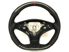 Mercedes AMG w204 C63 Black leathe carbon RED ring steering wheel 08~10