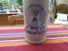 Rare chope en grès 5 litres de Oktoberfeesten 21e, Wieze Belgium, énorme chope