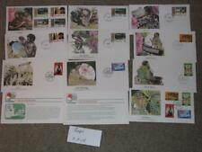 Figi, Tourism & Tenth Anniv. of Independence  FDC`s, cachets by Fleetwood
