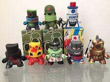 KIDROBOT FATCAP 3'' – Lot of 8 mini vinyl figurines - Series 1 & 2