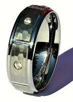 Tungsten Carbide Silver Men's Wedding Band Ring,Men's Tungsten Wedding Ring