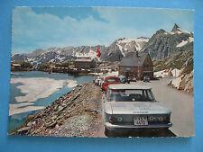 AOSTA PASSO GRAN SAN BERNARDO lago e dogana svizzera NV NUOVA bel timbro tondo