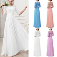 Women Lace Evening Formal Cocktail Party Gown Prom Bridesmaid Maxi Long Dress
